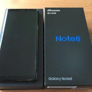 サムスン(SAMSUNG)の新品送料無料Galaxy Note8 SC-01KドコモSIMフリーブラック黒①(スマートフォン本体)