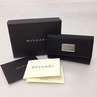 ブルガリ(BVLGARI)の美品 BVLGARI ミレリゲ 6連キーケース 25559 ブラック(キーケース)