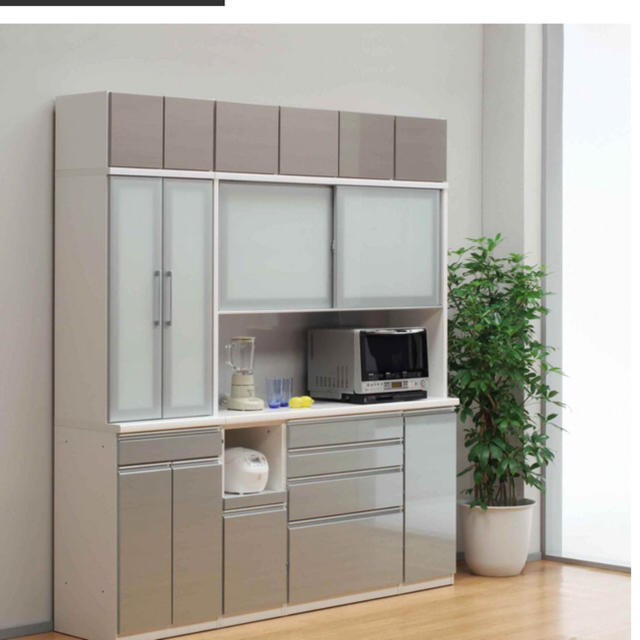 MUJI (無印良品)(ムジルシリョウヒン)のおまけつき!パウエル食器棚収納キッチンブラウン インテリア/住まい/日用品の収納家具(キッチン収納)の商品写真