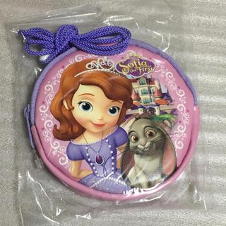 ディズニー(Disney)のDisney   ソフィア ネックコインケース 新品 ピンク 日本製(財布)