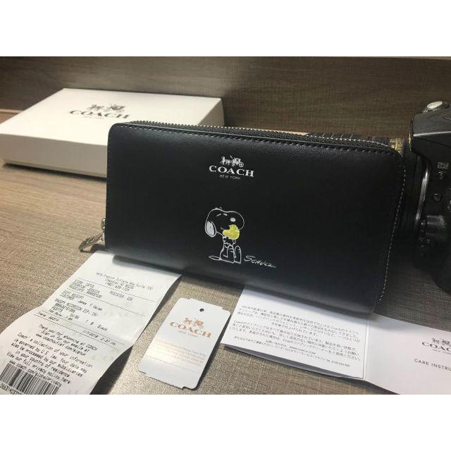 1a84afabb5a2 COACH(コーチ)のCOACH コーチ長財布 F53773 スヌーピー ブラック レディースのファッション小物