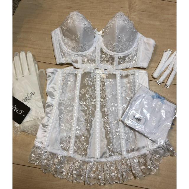 ウェディングドレス 下着一式セット レディースの下着/アンダーウェア(ブライダルインナー)の商品写真