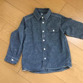 ムジルシリョウヒン(MUJI (無印良品))の無印良品 キッズ 120 男女兼用 シャツ(ブラウス)