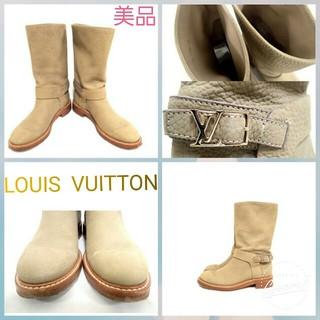 ルイヴィトン(LOUIS VUITTON)のヴィトン正規品レディース美品エンジニアブーツ(ブーツ)