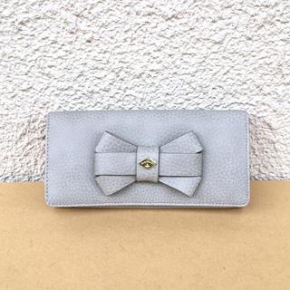 ヴィヴィアンウエストウッド(Vivienne Westwood)の新品ヴィヴィアン未使用リボン長財布グレー(財布)