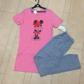 ディズニー(Disney)のusagi様専用【L】授乳口付きパジャマ マタニティ ピンク ミニー(マタニティパジャマ)