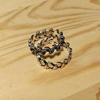 リーフ柄重ね付けリングセット(リング(指輪))