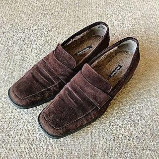 ブルーノマリ(BRUNOMAGLI)のブルーノマリ スウェードローファー 茶(ローファー/革靴)