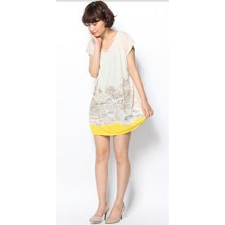 カルトナージュ(Cartonnage)の【値下げ】カラーブロックワンピース(Tシャツ(半袖/袖なし))