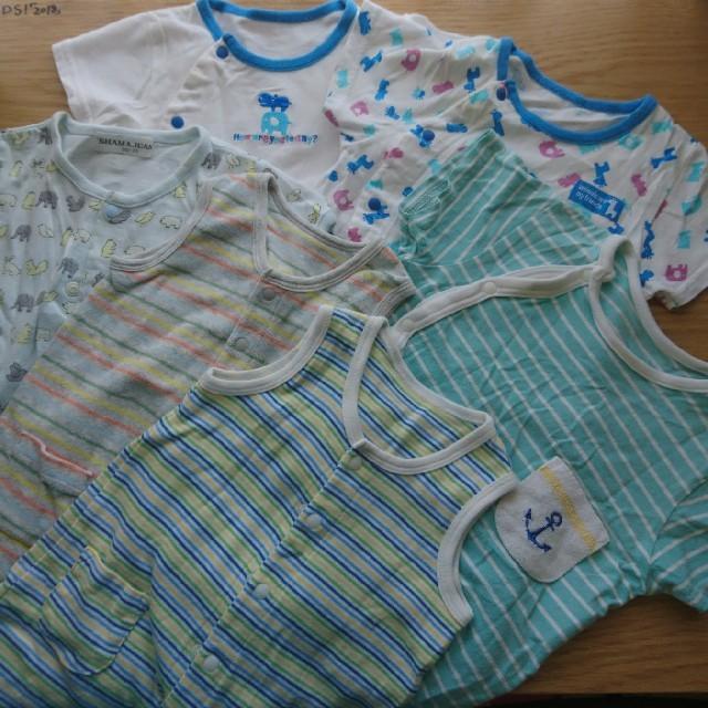 ac3a1f99ed334 60-70サイズ👶ベビー夏服6枚セットの通販 by きりんごあけぴ s shop|ラクマ