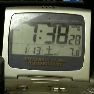 セイコー(SEIKO)の温度計つき電波時計(置時計)
