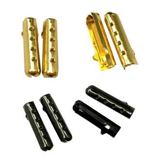 スニーカー用 シューレースチップ ゴールド ブラック アグレット 4個セット(スニーカー)