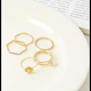 スタディオクリップ(STUDIO CLIP)のファッションリング5本セット(リング(指輪))