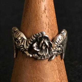 カレンシルバー リング 象 & 薔薇 11号(リング(指輪))