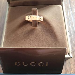 グッチ(Gucci)のGUCCI(^^)四つ葉クローバー指輪  ピンクゴールド(リング(指輪))