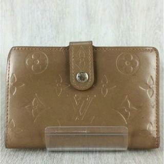 ルイヴィトン(LOUIS VUITTON)のルイヴィトンがま口 モノグラムマット ポルトモネヴィエノワ茶色ブラウン エナメル(財布)