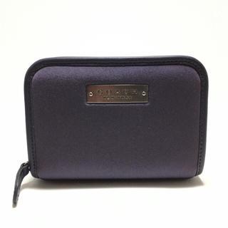 コーチ(COACH)のコーチ COACH ラウンドファスナー折財布 ナイロン×レザー 鑑定済 正規品(財布)