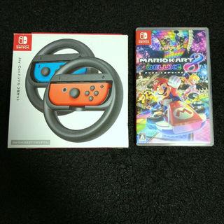ニンテンドースイッチ(Nintendo Switch)のニンテンドースイッチ専用ソフト マリオカート8デラックス + ハンドル(家庭用ゲームソフト)