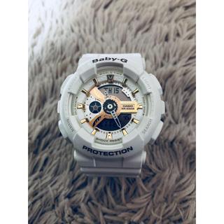 ベビージー(Baby-G)のBaby-G 白腕時計(腕時計(デジタル))