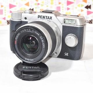 ペンタックス(PENTAX)の❤️かわいい手のひらサイズ❤️WiFi対応❤️PENTAX Q10 レンズキット(ミラーレス一眼)