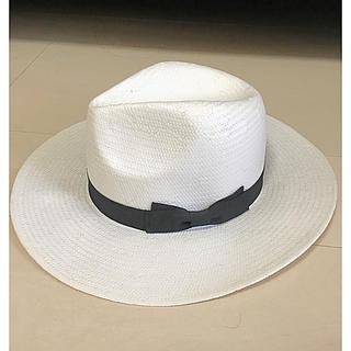 マウジー(moussy)の◆新品未使用 MOUSSY マウジー 白 春夏用 帽子 麦わら帽子◆(麦わら帽子/ストローハット)