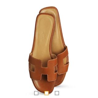 専用 エルメス オラン ゴールド 36 希少サイズ サンダル 新品(サンダル)