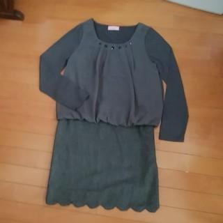 エシェリ(et Cheri)のツーピース ジャンパースカート+ブラウス(ひざ丈ワンピース)