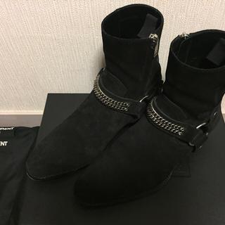 サンローラン(Saint Laurent)のサンローラン ワイヤットハーネスチェーン ブーツ スウェード(ブーツ)