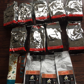 デロンギ(DeLonghi)のデロンギコーヒー豆12袋➕KALDIコーヒー2袋(コーヒー)