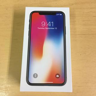 アップル(Apple)のiPhone X 64GB Space Gray SIMロック解除済 ドコモ(スマートフォン本体)
