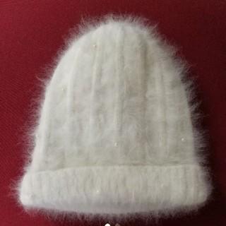 ニット帽 帽子 アンゴラ(ニット帽/ビーニー)
