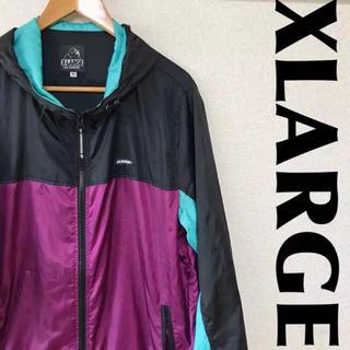 エクストララージ(XLARGE)のXLARGE ナイロンジャケット バイカラー ワンポイント 0302(ナイロンジャケット)