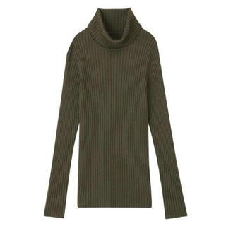 ムジルシリョウヒン(MUJI (無印良品))の首のチクチクをおさえた洗えるタートルネックセーター‼︎ (ニット/セーター)