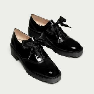 ザラ(ZARA)のZARA オックスフォードシューズ ブルーチャー 37(ローファー/革靴)