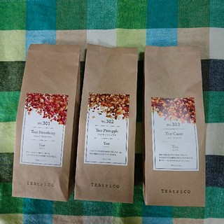 TEA trico ティートリコ 50gサイズ色々3点セット 食べれる紅茶(茶)