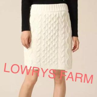 ローリーズファーム(LOWRYS FARM)のLOWRYS FARM ✩ 新品 3Gケーブルニットスカート(ミニスカート)