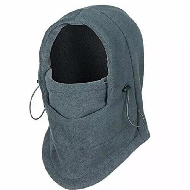 マスク ecomsoft | 多機能 防寒フリース 6WAY フェイスマスク ネックウォーマー グレーの通販 by すきなもの*°♡