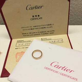 カルティエ(Cartier)の値下げ!カルティエ リング エングレーブド K18PG 47号 保証書あり(リング(指輪))