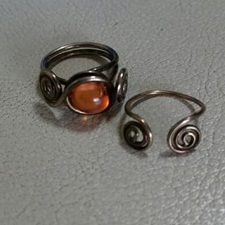 シルバーリング2個セット(リング(指輪))
