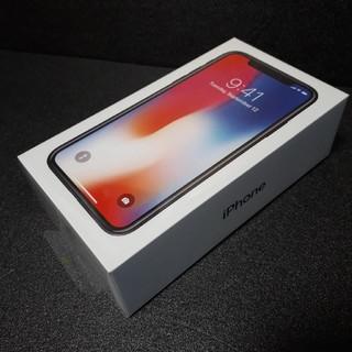 アイフォーン(iPhone)の新品未開封 iPhoneX 64GB simフリー スペースグレイ(スマートフォン本体)