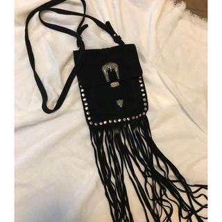 ザラ(ZARA)の美品♡ フリンジミニショルダー(ショルダーバッグ)