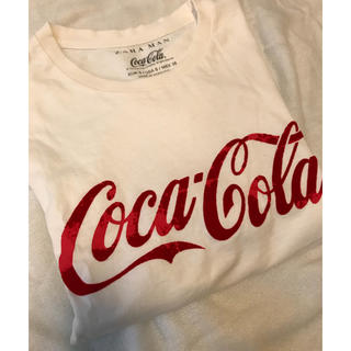 ザラ(ZARA)のメンズtee ユニセックス コカコーラtee 美品(Tシャツ(半袖/袖なし))