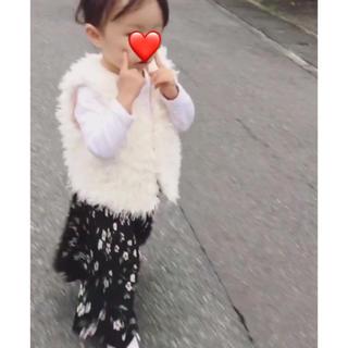 美品♡花柄スカーチョ 韓国子供服(パンツ/スパッツ)