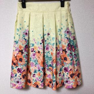 チェスティ(Chesty)のアネット 裾いっぱいフラワースカート(ひざ丈スカート)