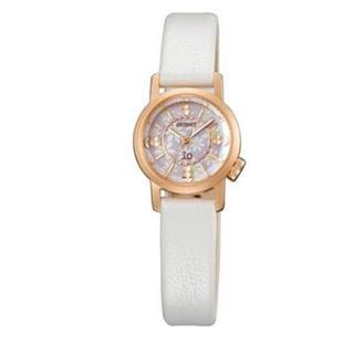 オリエント(ORIENT)のオリエントウォッチ iO ハッピーフラワー  花柄 白 腕時計 レディース(腕時計)