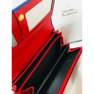 ヴィヴィアンウエストウッド(Vivienne Westwood)のRAYS様専用【新品】ヴィヴィアン ウエストウッド  赤&青 バイカラー 長財布(財布)