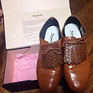 レペット(repetto)のrepetto ブラウンシューズ(ローファー/革靴)
