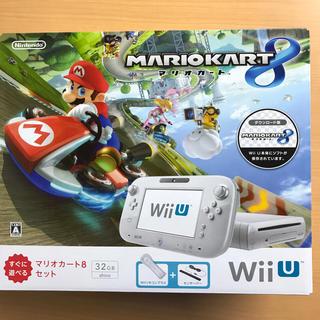 ウィーユー(Wii U)のWii U マリオカート8 セット シロ 保証書無し 任天堂(家庭用ゲーム本体)