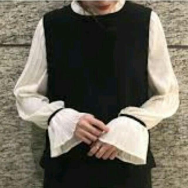 mystic(ミスティック)のmystic 袖プリーツワンピース レディースのワンピース(ひざ丈ワンピース)の商品写真