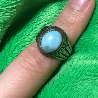 ラリマー付きシルバーリング  11号(リング(指輪))